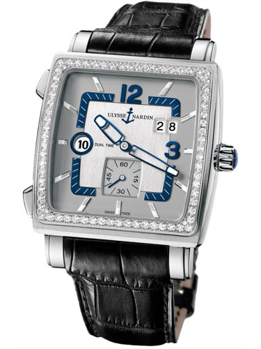 Часы U.N. Quadrato Dual Time Diamonds