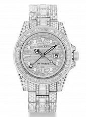 Часы Rolex GMT-Master II Iced Out Full Pave Custom Diamonds 116769 FIX