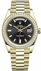 Часы Rolex Day Date 40mm Yellow Gold Diamonds
