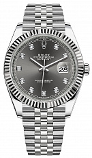 Часы Rolex Datejust 41mm II Dark Rhodium & Diamonds