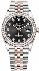 Часы Rolex 36 mm Oystersteel and Everose gold Custom Diamonds 126281 FIX