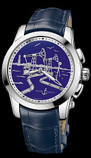 Часы UN Marine Complications Hourstriker Oil Pump Blue Limited Edition Platinum