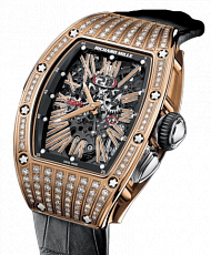 Часы Richard Mille RM 37 Skeleton Dial Rose Gold Diamonds
