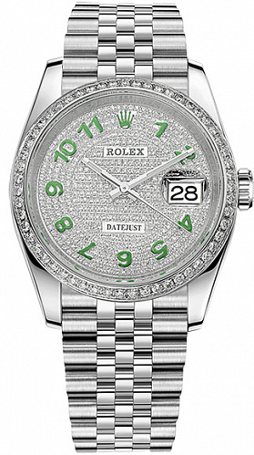 Часы Rolex Datejust 36 mm Custom Diamonds Pave Dial 126200 2021