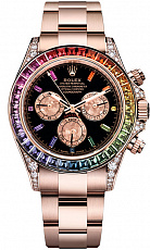 Часы Rolex Oyster  Daytona Rose Gold Rainbow Custom