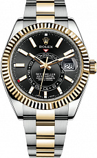 Часы Rolex Sky-Dweller Bi-Color Black Dial
