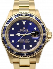 Часы Rolex Submariner Yellow Gold Custom Sapphire Bezel