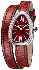 Часы Bvlgari Serpenti Steel with Diamonds Red