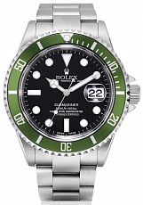 Часы Rolex Submariner Green Bezel 50th Anniversary Flat 4 F serial