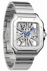 Часы Cartier Large Stainless Steel Santos de Cartier Skeleton CRWHSA0007