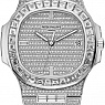 Часы Patek Philippe Nautilus White Gold Full Pave Diamonds Custom
