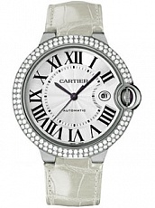 Часы Cartier Ballon Bleu XL White Gold Diamonds